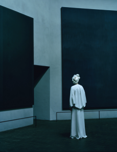 Swinton in Rothko Chapel (from W Magazine)